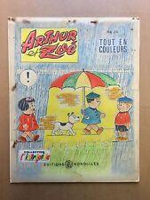 ARTHUR ET ZOE - Dessin Original de couverture avec calque couleurs - BE