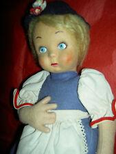 Adorable, 1940 vintage, triple tagged, Lenci felt model BC doll, excellent cond.