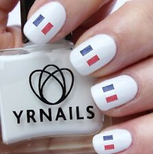 Nail WRAPS Nail Art Water Transfers Decals - Scribble French France Flag - S638