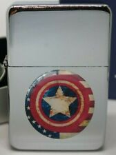 CAPTAIN AMERICA SHIELD VINTAGE FLIP METAL PETROL LIGHTER