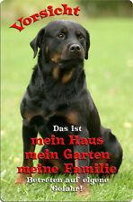 ROTTWEILER - A4 Metall Warnschild SCHILD Hundeschild Alu Türschild - RTW 17 T1