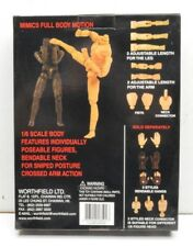 1/6th scale Body + Parts set Afro American 12in Worthfield Adjustable Real Guy