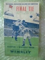 1951 FA Cup FINAL Official Programme- BLACKPOOL v NEWCASTLE UNITED, 28 Apr
