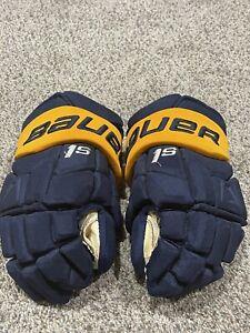 Jack Eichel Buffalo Sabres Gloves Photomatched 10/6/2018 vs NYR