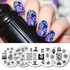 5Pcs BORN PRETTY Nail Stamping Plate Valentine Halloween Image Manicure Stencil