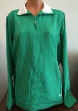 NIKE Golf Womens L Large Green Windproof Pullover Jacket Windbreaker Top 416435