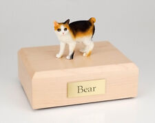 Japanese Bobtail Cat Figurine Pet Cremation Urn Available 3 Diff Colors 4 Sizes