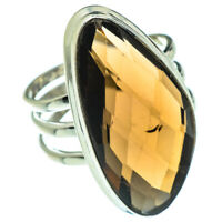 Large Smoky Quartz 925 Sterling Silver Ring Size 9.5 Ana Co Jewelry R47817F