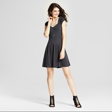 NEW Mossimo Supply Co. Women's Fit and Flare Skater Dress - Black - Size: L