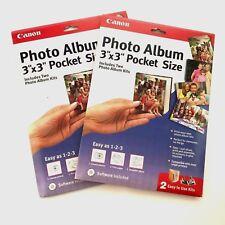 "Canon Create Your Own Photo Album 3""x3"" Pocket Size Two Album Kits Each Lot of 2"