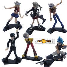 6pcs Set Soul Eater SOULEATER Maka BlackStar Kid Lizu 10-12cm PVC Figure NIB