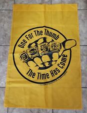 One For The Thumb The Time Has Come Pittsburgh Steelers Vintage Flag Banner