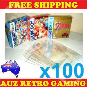 100x Thick GAME BOX PROTECTORS Cases Nintendo GameBoy / Color / Advance BOXED