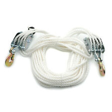 2 Ton4000 Lbs Poly Rope Hoist Pulley Wheel Block Tackle Puller Lift Tools