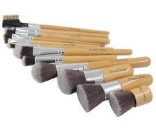 Professional Makeup Set 12 Pieces Bamboo Handle Premium Synthetic Kabuki