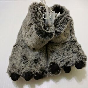 Cat & Jack Toddler Boys Fenny Monster Furry Bootie  Slippers Size Large 9-10