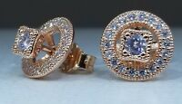 PANDORA Vintage Allure Earrings, PANDORA Rose™ & Clear CZ 280721CZ New POUCH