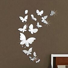 Walplus Mirror Butterflies Wall Stickers - Office Home Decoration, 14pcs, Size