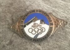 1936 Olympic Germany Winter Games  Commemorative Badge Very RARE