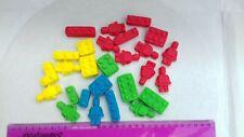 Handmade  Fondant lego figures and bricks 24pieces Edible Cake Topper