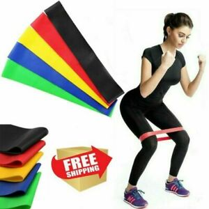 Set of 5 Resistance Band Loop Power Gym Fitness Elastic Exercise Yoga Workout