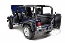 JEEP WRANGLER RUBICON DEEP BLUE 1:18 DIECAST MODEL CAR 31663