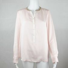 G2000 Womens Basic Long Sleeve Dusty Pink Casual Blouse Size 38