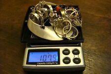 925 Sterling Silver Jewelry Lot Rings Earrings Pins 107.9 Grams Wear or Scrap!