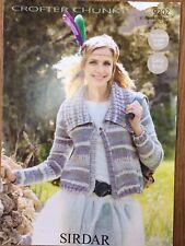"""Sirdar Crofter Knitting Pattern: Ladies Chunky Cardigan 32-54"""" 9202 Larger sizes"""