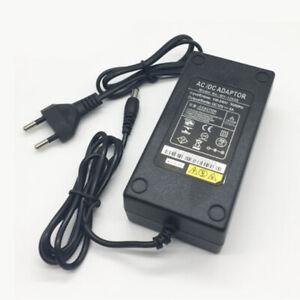 12V 5A DC Transformateur Adaptateur d'Alimentation pour LED Bande Noir EU Plug
