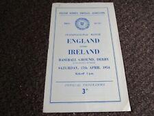 More details for derby county : england  v  ireland  1954 schools international ~ april 17 *rare*