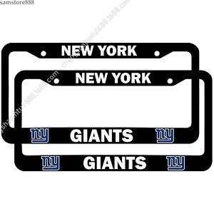 New York Giants 2PCS Chrome Liscense Plate Frame Universal Car Tag Cover Gift