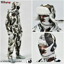 1/6 Scale Winter Snow Camo Outdoor Clothes Suit Send Stand for 12''Action Figure