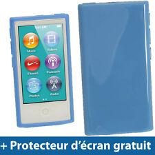 Bleu Étui Housse Case TPU pour Nouveau Apple iPod Nano 7ème Génération 7G 16GB