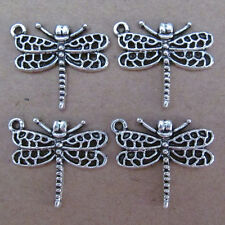 10pc Animals Dragonfly Accessories Tibetan Silver Beads Jewelry Findings SA051