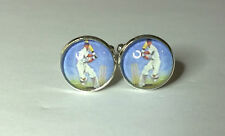 Vintage Style Cricket Poster Glass Domed sports  cufflinks