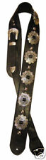 HEAVY LEATHER NYC Guitar Strap Motorhead Concho Rock Lemmy Kilmister Black USA