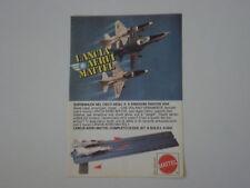 advertising Pubblicità 1977 LANCIA AEREI MATTEL