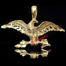 2D EAGLE 24k GOLD Layered Diamond Cut Charm | Pendant + LIFETIME GUARANTEE