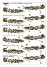 Xtradecal 1/72 X72139 Curtiss P-40B Tomahawk (Hawk 81) Decals RAF/USAAF