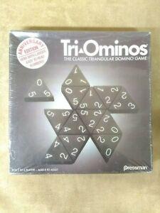 Pressman Tri-Ominos Game, 1993 Anniversary Edition, Triangular Dominoes, Sealed
