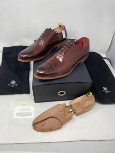 Bolvaint Verrocchio Wingtip Dress Shoe US 8.5 Men's Burgundy $1270 Buffalo Leath