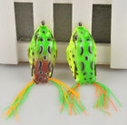 Cute Large Frog Topwater Fishing Lure Crankbait Hooks Bass Bait Tackle One