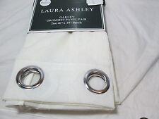 New Laura Ashley OAKLEY  Ivory Grommet Window Panels 2(40x84) NEW