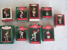 Nine Hallmark Keepsake Ornaments w Box Reindeer Champs All Star Sports Animals