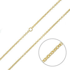 2mm Round Link Jewellery Making Chain Gold Plated Steel 1 Metre (G94/1)