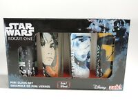 Disney Star Wars Rogue One Shot Glasses Glass Set Zak Designs Mini Cup Pack of 4