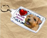 Norfolk Terrier Keyring  Dog Key Ring Norfolk Dog Gift Xmas Gift Stocking Filler