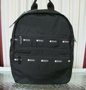 LeSportsac Black Backpack Monroe Large Travel School Commuter Bag NWT