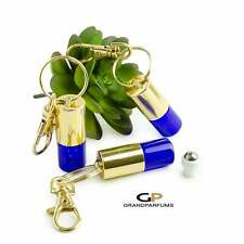 Keychain Dropper Bottles 6 MINI PREMIUM 2 ml COBALT Blue Essential Oil Orifice